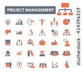 project management icons  | Shutterstock .eps vector #414396319
