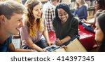 classmate classroom sharing... | Shutterstock . vector #414397345
