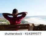 rear view portrait of young... | Shutterstock . vector #414399577