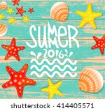 summer background  vintage... | Shutterstock .eps vector #414405571