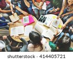 classmate classroom sharing...   Shutterstock . vector #414405721