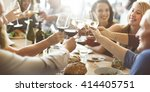 brunch choice crowd dining food ... | Shutterstock . vector #414405751
