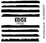 grunge edges set   isolated... | Shutterstock .eps vector #414406957