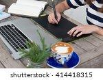 graphic designer using a... | Shutterstock . vector #414418315