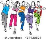group of dancers fitness...   Shutterstock .eps vector #414420829