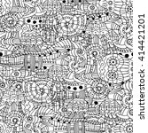 vector illustration doodle... | Shutterstock .eps vector #414421201