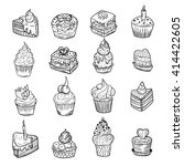 set of vector sketches of... | Shutterstock .eps vector #414422605