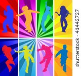 vector silhouettes of teenage... | Shutterstock .eps vector #41442727