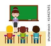 teacher classroom design  | Shutterstock .eps vector #414427651