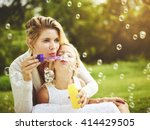 mother and daughter family time ... | Shutterstock . vector #414429505