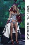 NEW YORK - NOVEMBER 19: Victoria's Secret Fashion Show model Lindsay Ellingson on November 19, 2009 at the Lexington Armory in New York City. - stock photo