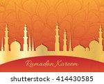 ramadan kareem greeting card. ... | Shutterstock .eps vector #414430585