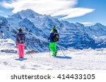 hiking in the alps | Shutterstock . vector #414433105