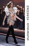 NEW YORK - NOVEMBER 19: Victoria's Secret Fashion Show model Ana Beatriz Barros on November 19, 2009 at the Lexington Armory in New York City. - stock photo