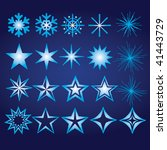 snowflake and star elements | Shutterstock .eps vector #41443729