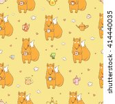 seamless pattern with cute... | Shutterstock .eps vector #414440035