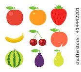 set of fruits icons. flat... | Shutterstock .eps vector #414442201