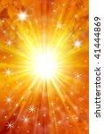 stars on yellow and orange tone ... | Shutterstock . vector #41444869