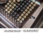 Small photo of Old telegram, teleprinter, writer machine.