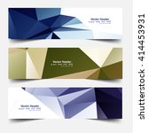 abstract colorful web header set | Shutterstock .eps vector #414453931