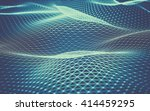abstract polygonal space low... | Shutterstock . vector #414459295