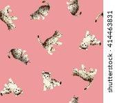 pretty cat pattern | Shutterstock . vector #414463831