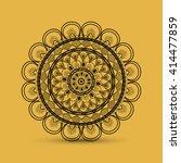 bohemic design. mandale icon....   Shutterstock .eps vector #414477859