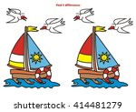 sailboat  find 5 differences | Shutterstock .eps vector #414481279