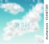 watercolor sky background with... | Shutterstock .eps vector #414487285