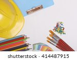 equipment for drawing or design ...   Shutterstock . vector #414487915