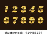 vector golden numbers. set of... | Shutterstock .eps vector #414488134
