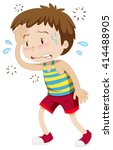 little boy having hyperthermia... | Shutterstock .eps vector #414488905