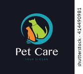 Stock vector pet care logo template 414490981