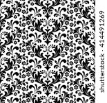 damask seamless floral pattern. ... | Shutterstock .eps vector #414491269