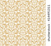 floral pattern. wallpaper... | Shutterstock .eps vector #414491311