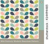 seamless mid century modern... | Shutterstock .eps vector #414494485