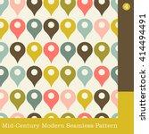 seamless mid century modern... | Shutterstock .eps vector #414494491