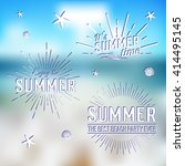 summer time logo templates.... | Shutterstock .eps vector #414495145