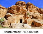 ancient stone carvings scenic... | Shutterstock . vector #414500485