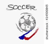 drawing soccer football and... | Shutterstock .eps vector #414500845
