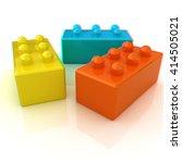 building blocks on white . 3d... | Shutterstock . vector #414505021