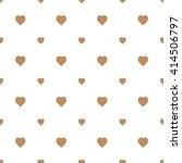 brown seamless heart pattern | Shutterstock .eps vector #414506797