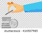illustration for man invest his ... | Shutterstock .eps vector #414507985