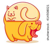 Stock vector vector logo with cat and dog 414508021