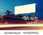 blank billboard for... | Shutterstock . vector #414509341