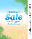 summer holiday sales background ... | Shutterstock .eps vector #414513331