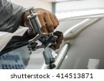mechanic using repairing... | Shutterstock . vector #414513871