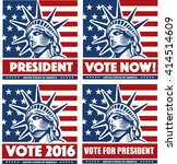vote for president usa with... | Shutterstock .eps vector #414514609