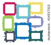 set of empty vector monochrome... | Shutterstock .eps vector #414517315