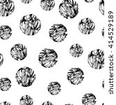 hand drawn polka dot grunge... | Shutterstock .eps vector #414529189